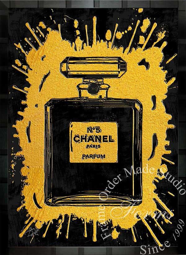 絵画 インテリア ブランドオマージュアート/スターデザイン「シャネル・パフューム/Chanel Perfume」A1ポスター