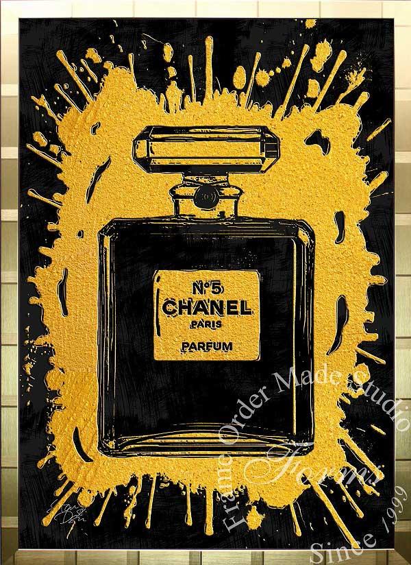 絵画 インテリア ブランドオマージュアート/スターデザイン「シャネル・パフューム/Chanel Perfume(G)」A1ポスター