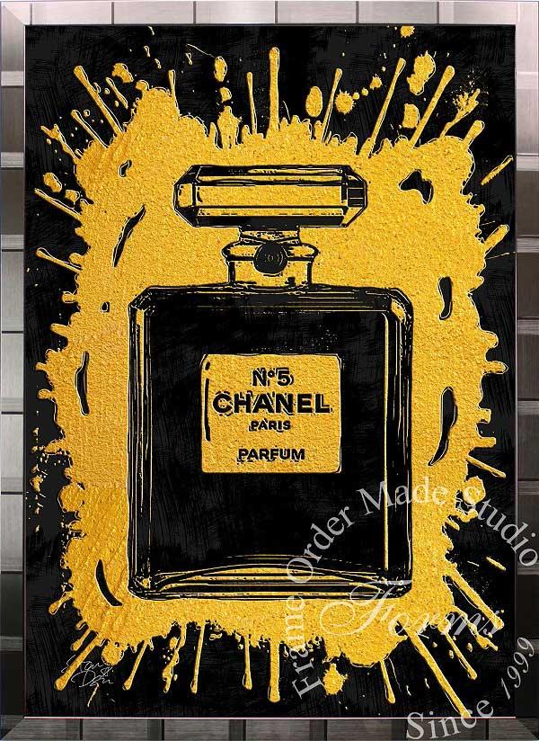絵画 インテリア ブランドオマージュアート/スターデザイン「シャネル・パフューム/Chanel Perfume(S)」A1ポスター