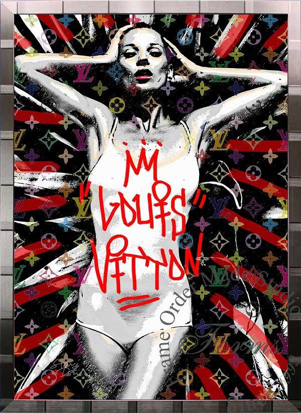 絵画 インテリア ブランドオマージュアート/スターデザイン「ケイト・モス×ルイ・ヴィトン/Kate Lover(S)」A1ポスター