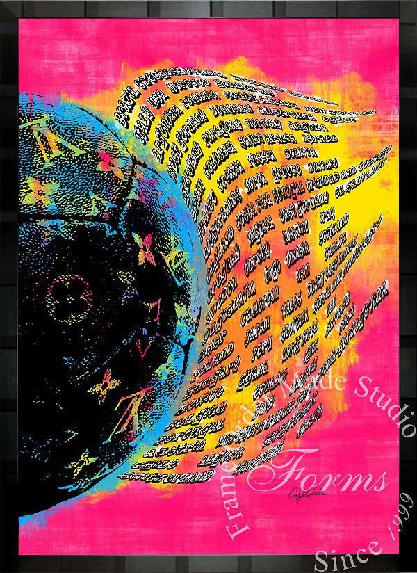 絵画 インテリア ブランドオマージュアート/クレイグ・ガルシア「ルイ・ヴィトン/サッカー/ワールドカップ出場国」ポスター ポップアート ヴィトン オマージュ