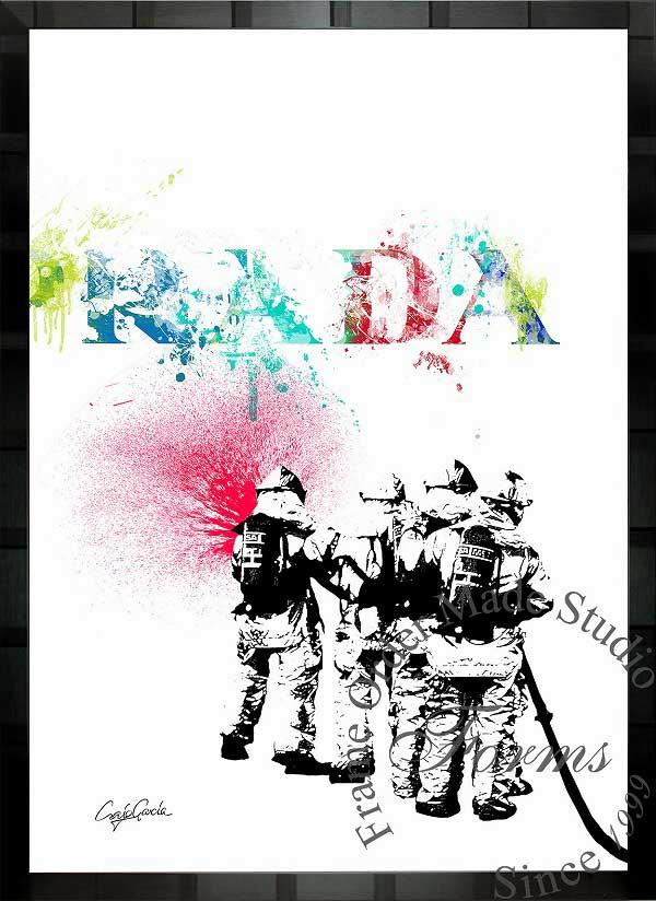 絵画 インテリア ブランドオマージュアート/クレイグ・ガルシア「プラダ/リペイント」ポスター ポップアート プラダ オマージュ