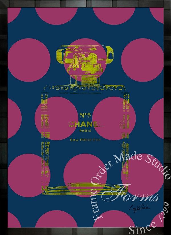 絵画 インテリア ブランドオマージュアート/クレイグ・ガルシア「シャネル/ビッグ ドットc」ポスター ポップアート シャネル オマージュ