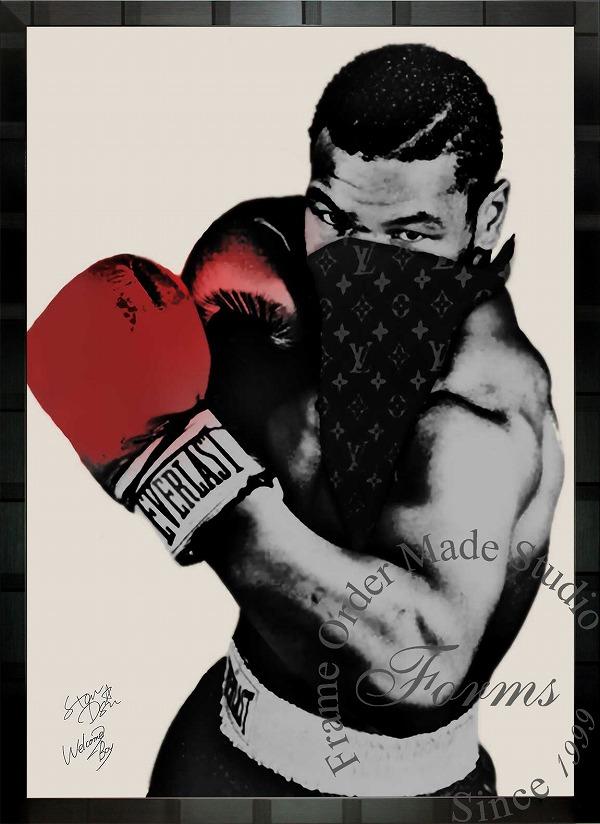 絵画 インテリア ブランドオマージュアート/スターデザイン「マイク・タイソン×ルイ・ヴィトン」A1ポスター