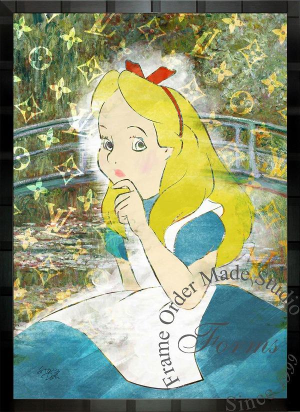 絵画 インテリア ディズニー×ブランドオマージュアート/スターデザイン「不思議の国のアリス×ルイ・ヴィトン」A1ポスター