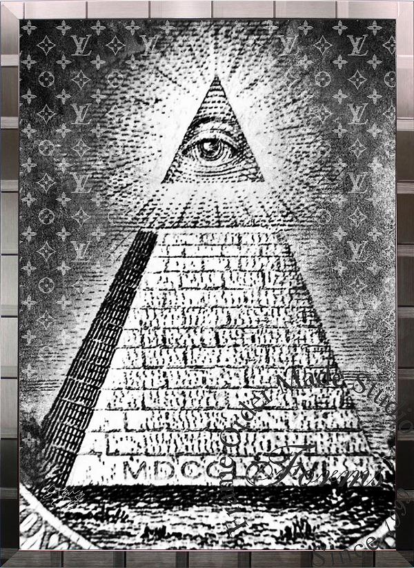 絵画 インテリア ブランドオマージュアート/スターデザイン「フリーメイソン×ルイ・ヴィトンb(S)」A1ポスター