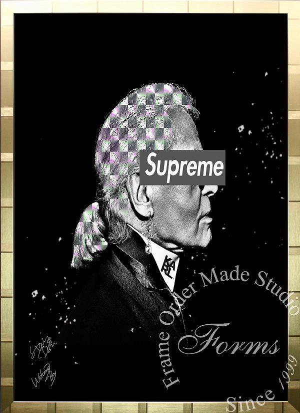 絵画 インテリア ブランドオマージュアート/スターデザイン「カール・ラガーフェルド×シュプリーム(G)」A1ポスター