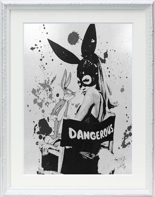 絵画 インテリア オマージュアート/スターデザイン「アリアナ・グランデ×バッグス・バニー(W)」A4ポスター
