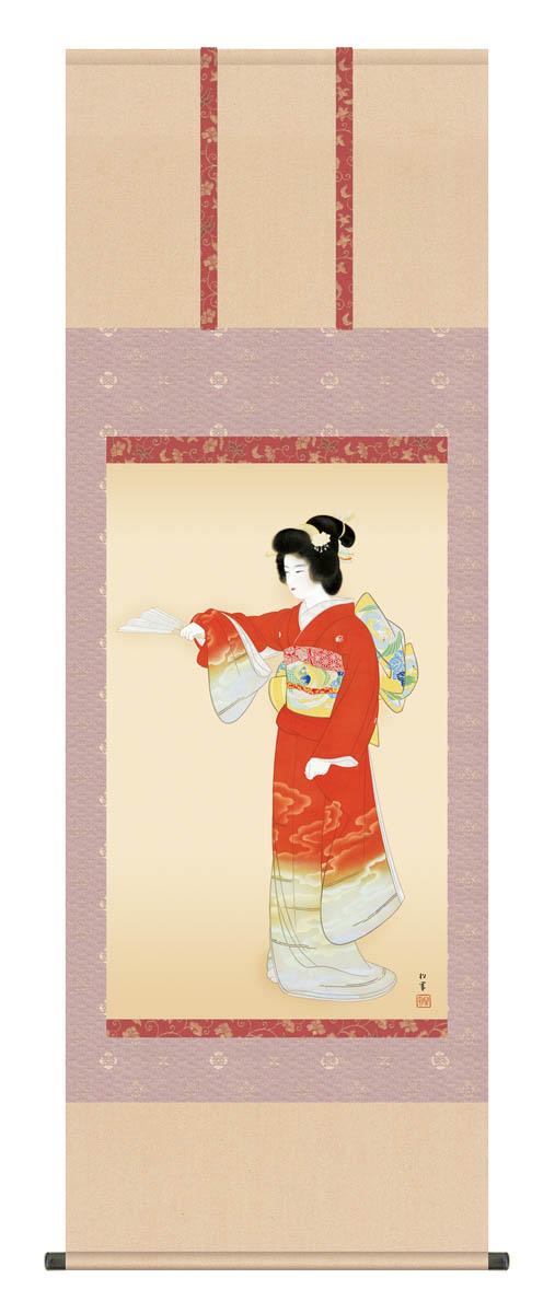 上村松園「序の舞」掛軸 高精彩巧芸画 プレゼント ギフト 各種お祝い 誕生日 インテリア アート 日本画