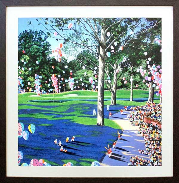 ヒロ・ヤマガタ「PGAチャンピオンシップ」展示用フック付アートポスター【インテリア】【アート】【ヒロヤマガタ】【絵画インテリア】