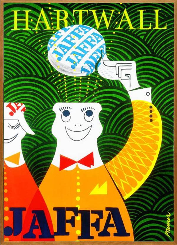 北欧 雑貨 インテリア エリック・ブルーン/JAFFAポスター「ハット(オーク)」アート フィンランド 絵画
