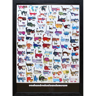 ポスター「100匹の猫とネズミ」プレゼント ギフト 各種お祝い 誕生日 子供部屋 子ども【インテリア】【絵画インテリア】