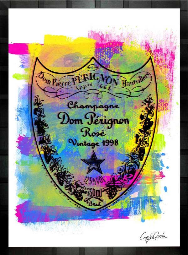 【絵画インテリア】ブランドオマージュアート/クレイグ・ガルシア「ドン・ペリニヨン・ローズ」ポスター【インテリア】【ポップアート】【クレイグガルシア】【ドンペリ】【オマージュ】【パロディ】