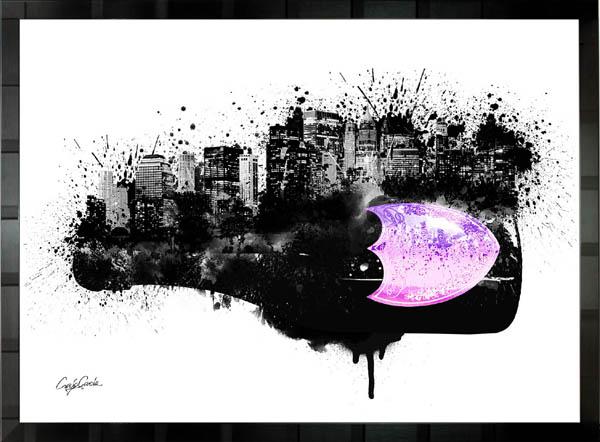 【絵画インテリア】ブランドオマージュアート/クレイグ・ガルシア「ドン・ペリニヨン・シティ」ポスター【インテリア】【ポップアート】【クレイグガルシア】【ドンペリ】【オマージュ】【パロディ】