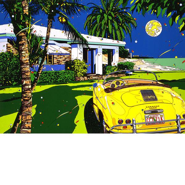 ■鈴木英人■版画「マイアミ・ムーン」 1994年