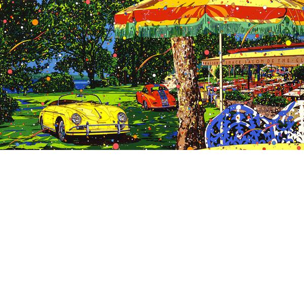 ■鈴木英人■版画「スターライト・ガーデン」 1995年
