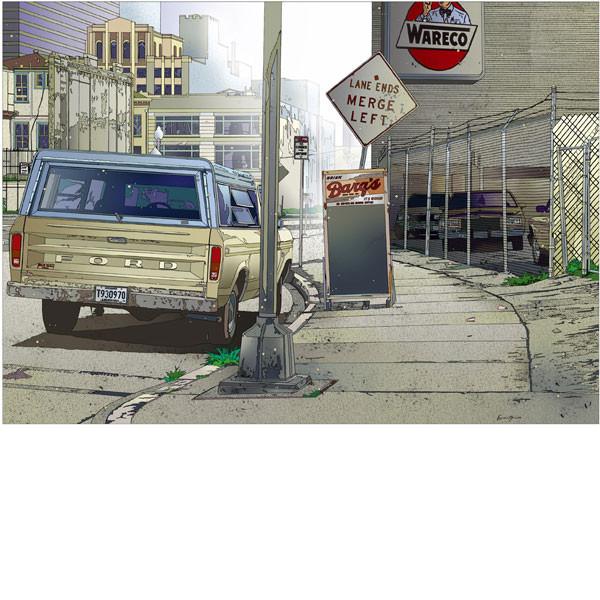 ■鈴木英人■版画「ダウンタウン物語」 2006年