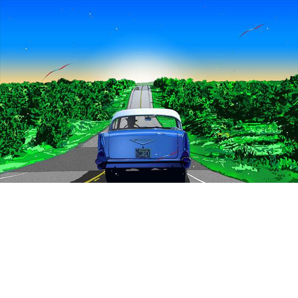 ■鈴木英人■版画「カントリー・ロード」 2009年
