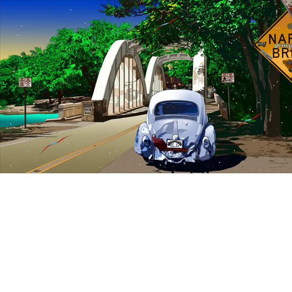 ■鈴木英人■版画「ナロー・ブリッジ」 2010年