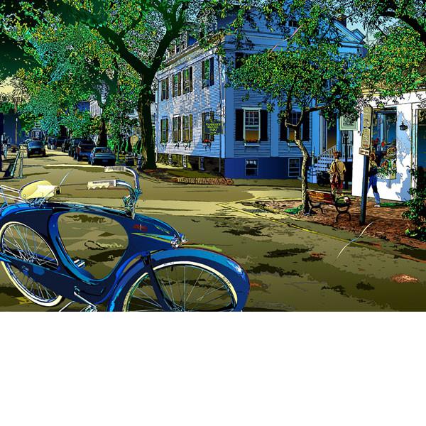 ■鈴木英人■版画「緑の楽園」 2001年
