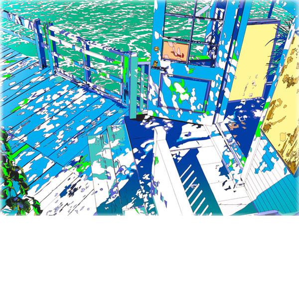 ■鈴木英人■版画「フィッシャーマンズ・テーブル2001」 2001年