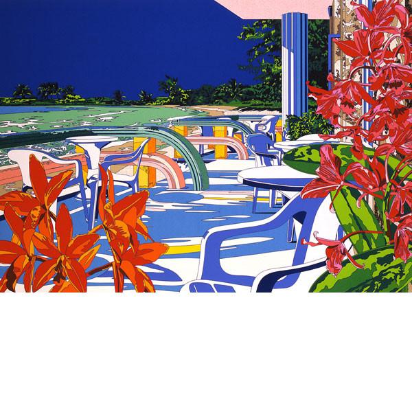 ■鈴木英人■版画「待ちわびていた海からの風」 1992年