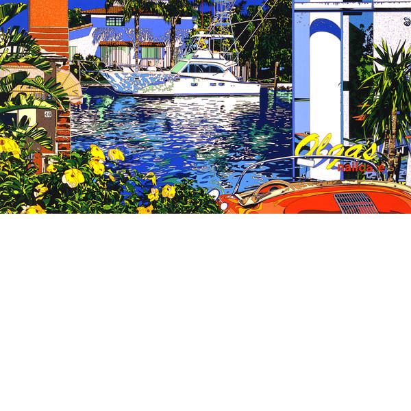 大特価 ■鈴木英人■版画「マイアミの碧い運河」 1993年, ホクダンチョウ:1584238d --- clftranspo.dominiotemporario.com