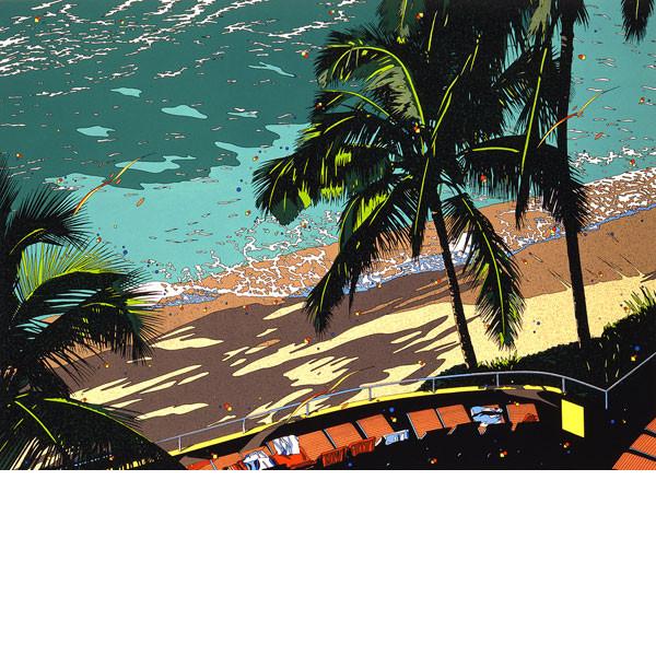 専門店では BEACH」 1988年■鈴木英人■版画「WAIKIKI BEACH」 1988年, くすのき工房:f47b005d --- canoncity.azurewebsites.net