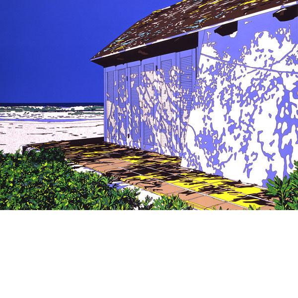 豪華で新しい HOUSE」 1990年■鈴木英人■版画「BEACH HOUSE」 1990年, オールビューティー:3a5ad5ed --- clftranspo.dominiotemporario.com