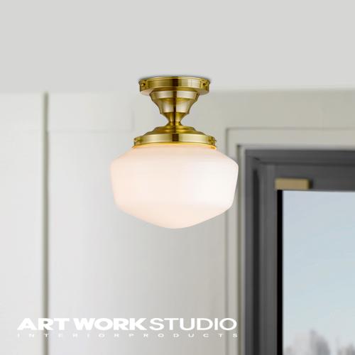 シーリングランプ 1灯 ARTWORKSTUDIO アートワークスタジオ East college-ceiling lamp(S) イーストカレッジシーリングランプ(S) E26 60W ガラス 密閉器具対応型LED対応 おしゃれ ビンテージ レトロ【アートワークスタジオ公式】
