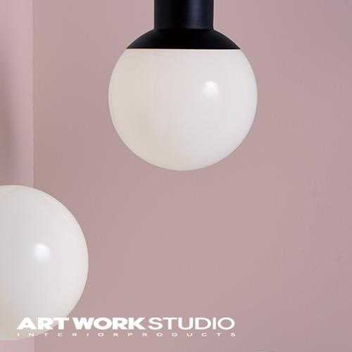 【アートワークスタジオ公式】シーリングランプ ガラスシェード 1灯 モダン ボールランプ 【NEW】Groove-ceiling lamp グルーブシーリングランプ