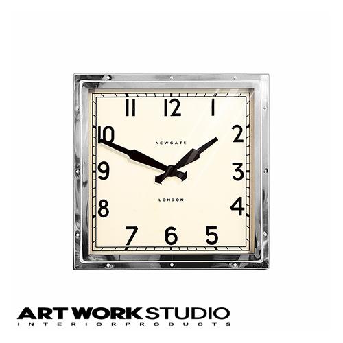 壁掛け時計 NEW GATE ニューゲート Quad wall clock (M) クヮドウォールクロック(M) 幅40×高さ40cm アナログ 電池式 スチール おしゃれ アメリカン ミッドセンチュリー ビンテージ【アートワークスタジオ公式】