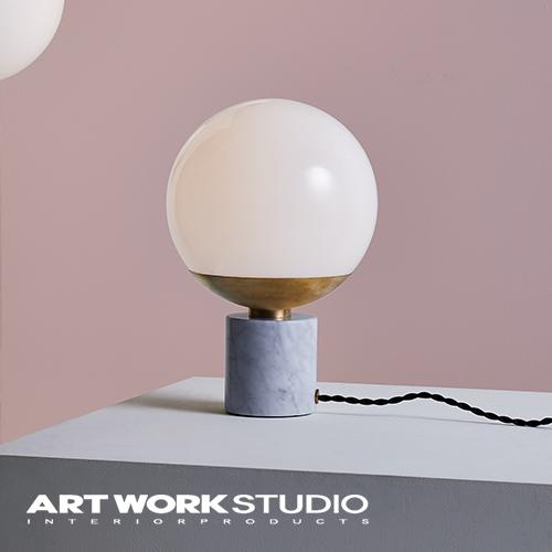【アートワークスタジオ公式】テーブルランプ ガラスシェード ボールランプ 大理石 モダン【NEW】Groove-table lampグルーブテーブルランプ