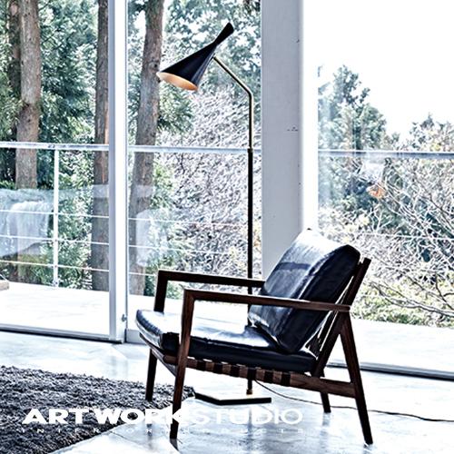 フロアランプ 1灯 ARTWORKSTUDIO アートワークスタジオ Genesis-floor lamp ジェネシスフロアランプ E26 60W アルミ スチール 高さ調整可能 LED対応 おしゃれ 間接照明 北欧 ミッドセンチュリー【アートワークスタジオ公式】