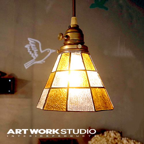A Pendant Light 1 Light Artworkstudio Artwork Studio Stained Glass Pendant Checker Stained Glass Pendant Checker E26 40w Brass Stained Glass