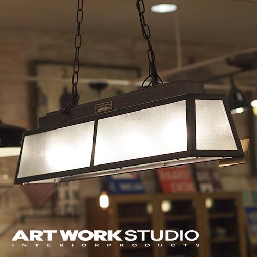 【アートワークスタジオ公式】ペンダントライト インダストリアル ブルックリン 4灯 スチール ガラスGlass house 4-pendant グラスハウス4ペンダント
