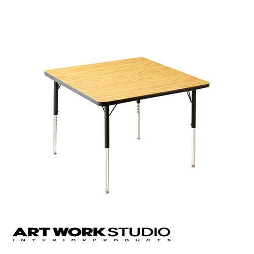 ダイニングテーブル VIRCO バルコ 4000 Table (SS) 4000テーブル (SS) W91.5×D91.5cm 圧縮合板 木目 おしゃれ 食卓 アメリカンテイスト 高さ調整可能【アートワークスタジオ公式】