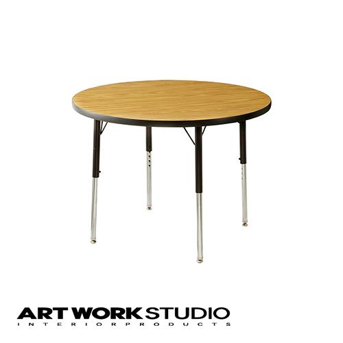 【アートワークスタジオ公式】ダイニングテーブル おしゃれ 円形 ビンテージ インダストリアル VIRCO(バルコ)テーブル「4000 Table Round (S)」