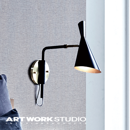 ウォールランプ 1灯 ARTWORKSTUDIO アートワークスタジオ Genesis-wall lamp ジェネシスウォールランプ E26 60W ブラケット アルミ スチール 角度調整可能 ロータリースイッチ LED対応【アートワークスタジオ公式】
