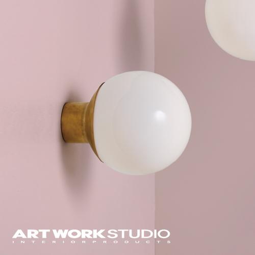 【アートワークスタジオ公式】ウォールランプ ガラスシェード ボールランプ モダン 北欧 【NEW】Groove-wall lamp グルーブウォールランプ専門業者施工