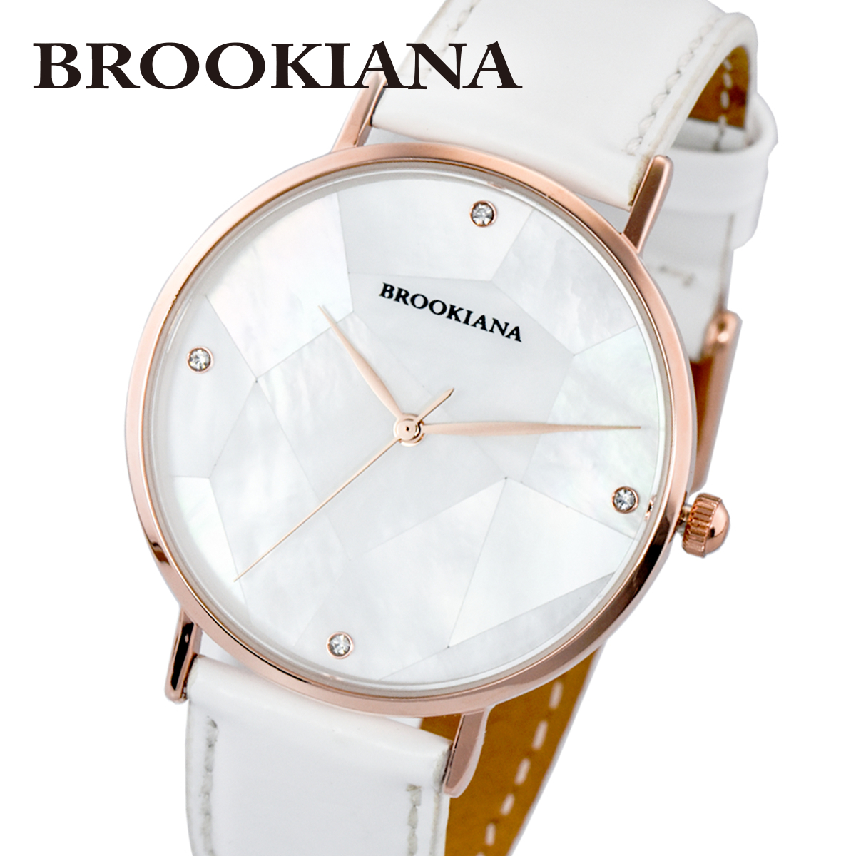 【全品送料無料】 ブルッキアーナ BROOKIANA ROUND SLIM PEARL BA3101-RPWLWH メンズ 時計 腕時計 クオーツ