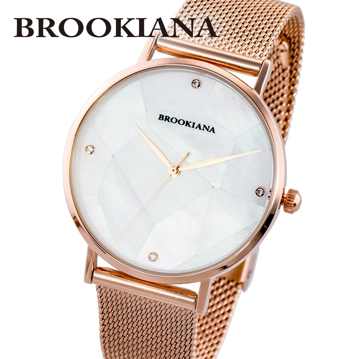 【全品送料無料】 ブルッキアーナ BROOKIANA ROUND SLIM PEARL BA3101-RPWMRG メンズ 時計 腕時計 クオーツ