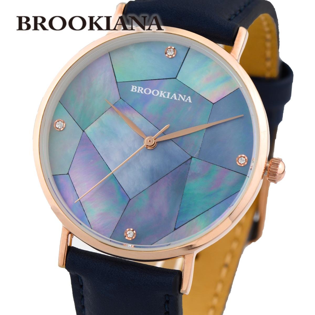 ブルッキアーナ 国内正規品 送料無料 あす楽 全品送料無料 往復送料無料 BROOKIANA ROUND SLIM BA3101-RPBLNV PEARL クオーツ 時計 腕時計 直営店 レディース