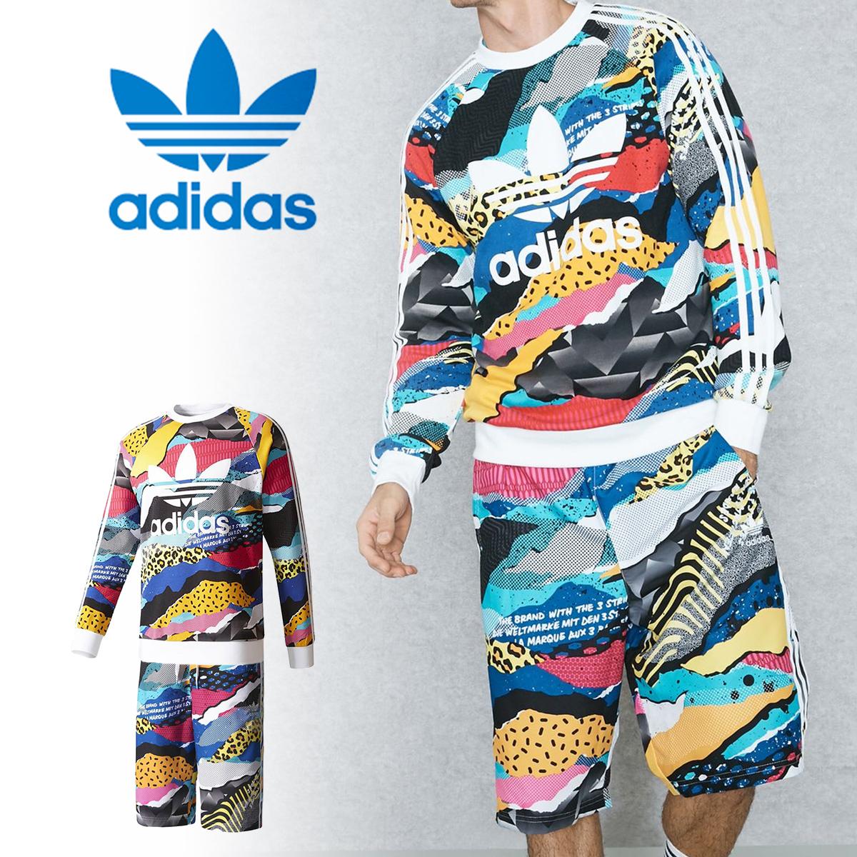 【特価】adidas originals アディダス オリジナルス セットアップ メンズ スウェット スイムウェア ロンT bk7730 bk7741 水着