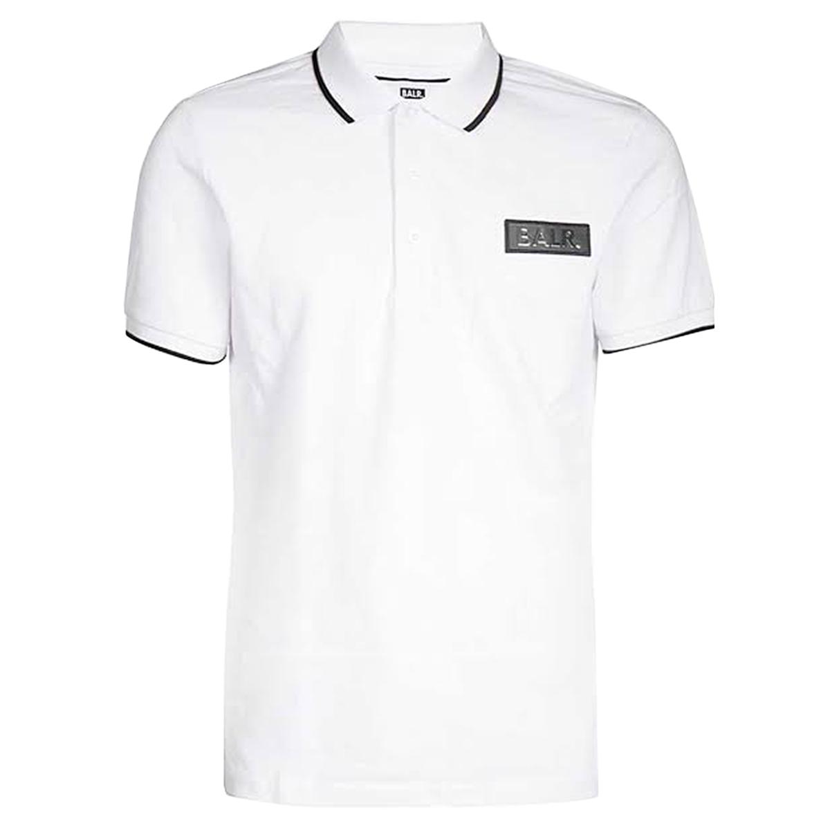 【全品送料無料】 BALR. ボーラー Brand Metal Logo Polo Shirt White Tシャツ メンズ