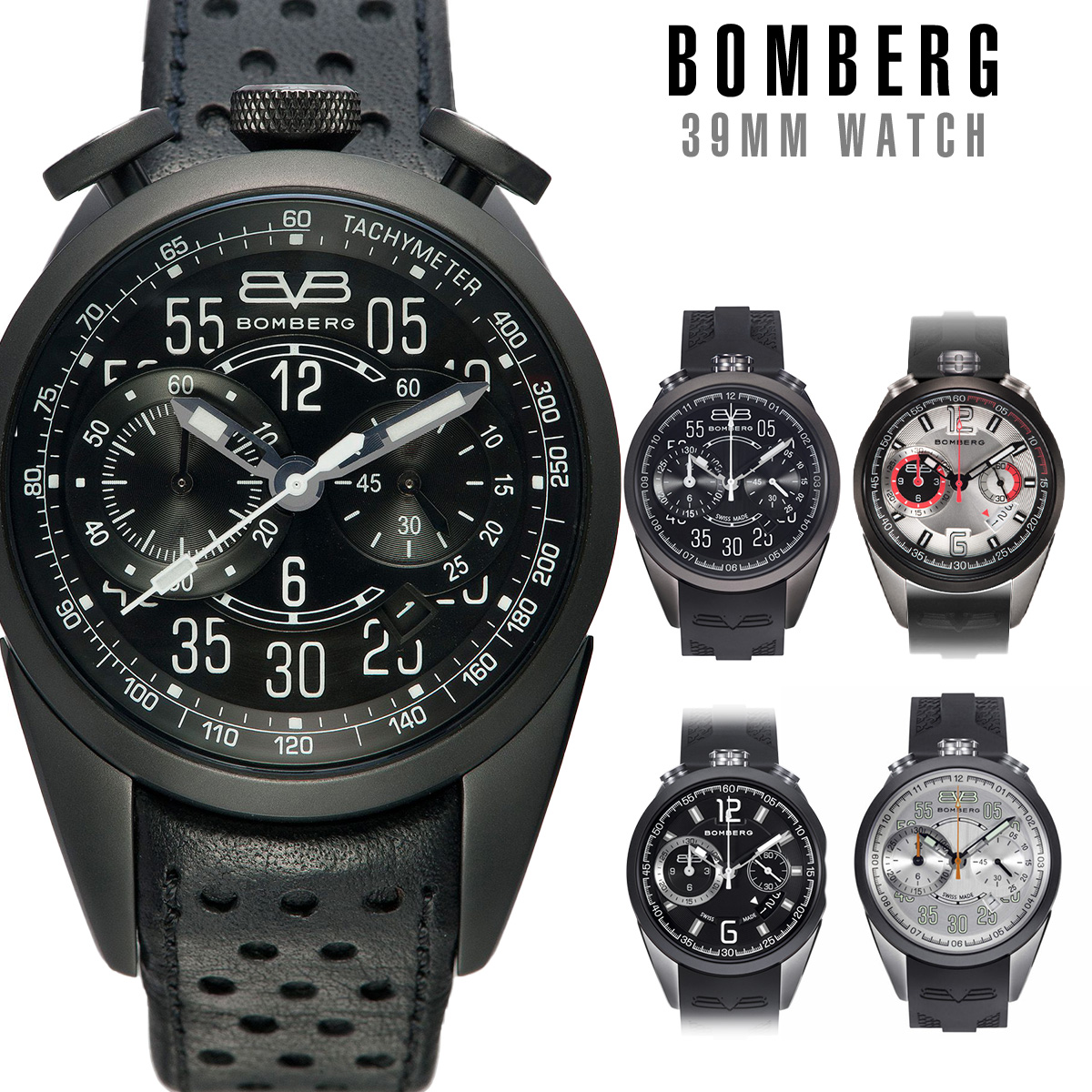【全品送料無料】 ボンバーグ BOMBERG 1968 Chronograph 39 mm メンズ 時計 腕時計