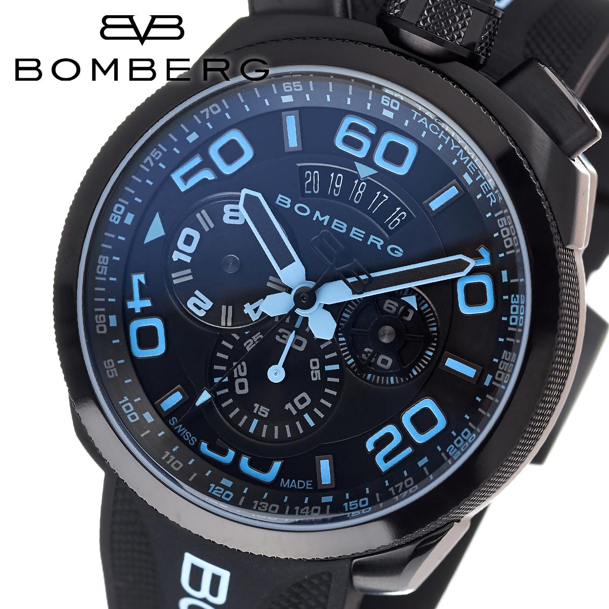 【全品送料無料】 ボンバーグ BOMBERG ボルト68 BOLT-68 BS45CHPBA.030.3 メンズ 時計 腕時計 クオーツ クロノグラフ
