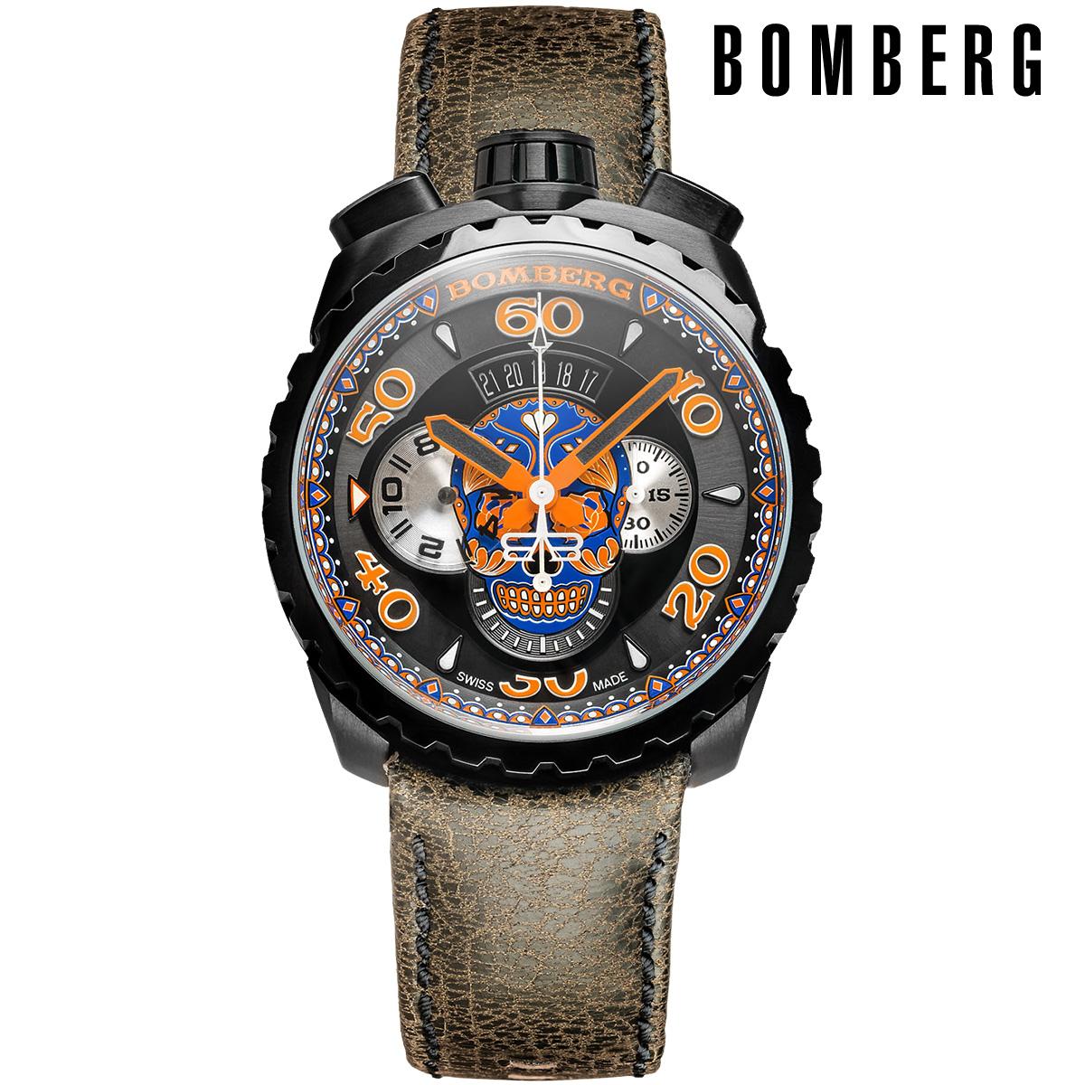 【全品送料無料】 ボンバーグ BOMBERG ブルースカル ボルト68 BOLT-68 bs45chpba-051-3 メンズ 時計 腕時計