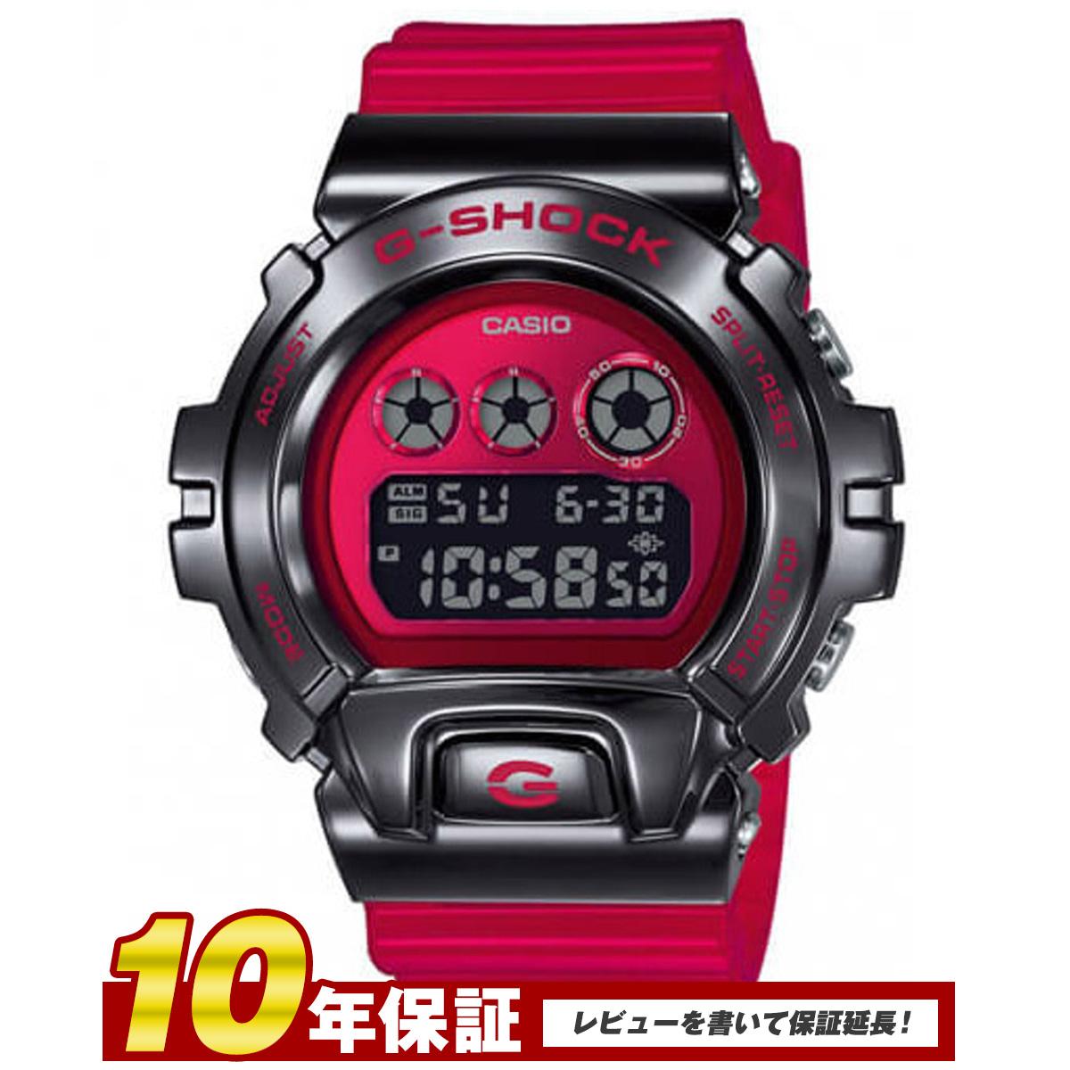 【全品送料無料】CASIO カシオカシオ G-SHOCK 腕時計 メンズ METAL COVERED メタルカバー ブラック レッド GM-6900B-4