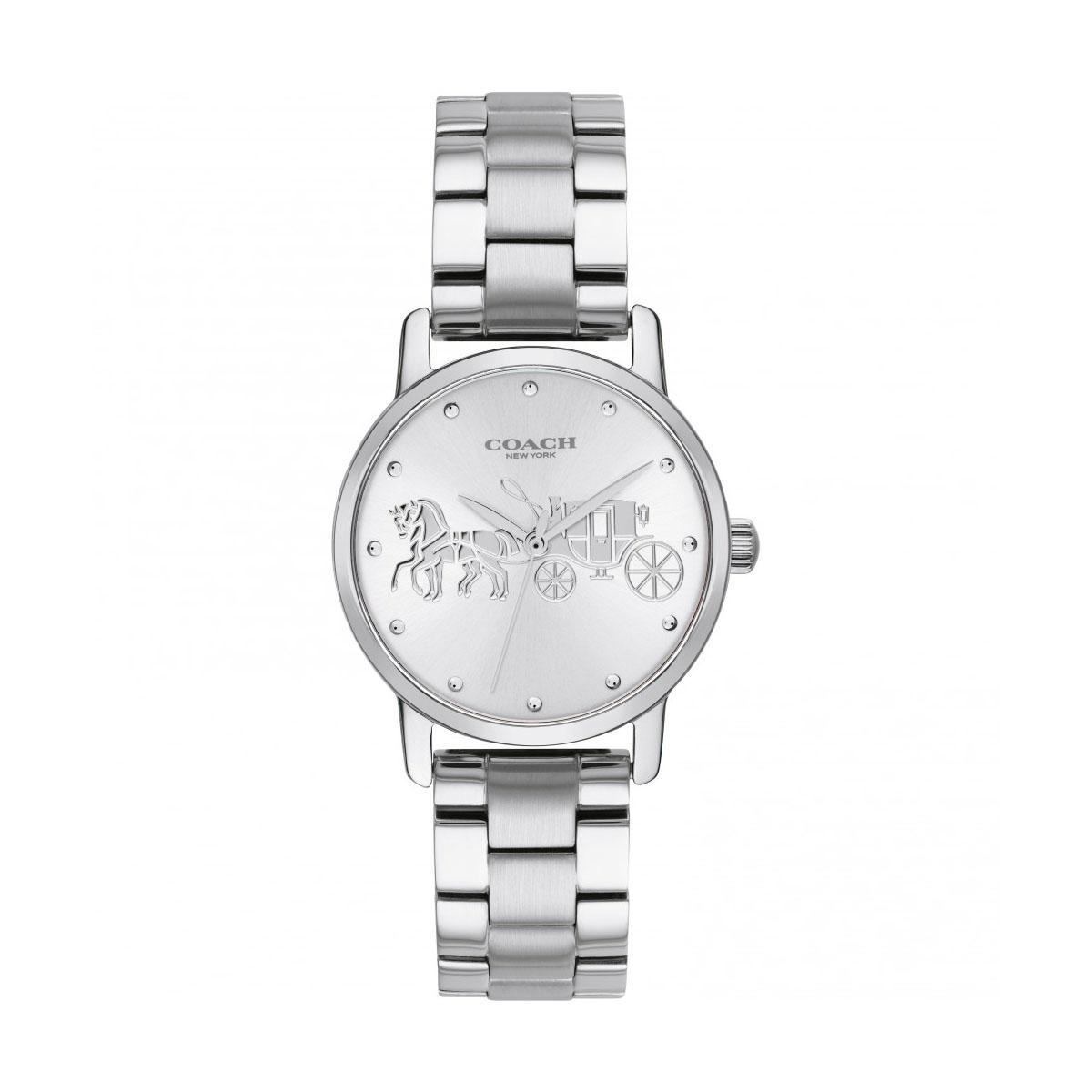 コーチ 本物 海外正規品 送料無料 あす楽 COACH 14502975 ステンレススチール 腕時計 情熱セール シルバー クォーツ Grand グランド レディース ブランド
